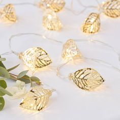 Gold Vine String Lights - Wedding Lights - Party Lights - Gold String Lights - Fairy Lights for Weddings Wedding Night, Wedding Table, Rustic Wedding, Wedding Ideas, Handmade Wedding, Spring Wedding, Battery Operated Lights, Gold Wedding Decorations, Winter Weddings