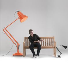 Eco - Anglepoise original 1227 and giant model 1227 lamps - by George Carwardine - aluminiun, steel, and electris
