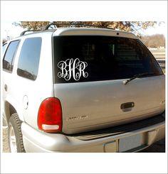 Vine Monogram Car Window Decal Personalized Custom Vinyl Decal Everything Else 5x7 on Etsy, $7.00