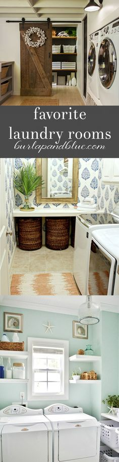 lovely laundry rooms!