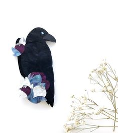 I'm in love with this Midnight Raven brooch by Deer Arrow! Raven Queen, Love Birds, Im In Love, Arrow, Deer, Night, Purple, Collection, Brooches