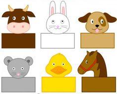 Divertidos Titeres de papel para hacer con los niños ~ cositasconmesh
