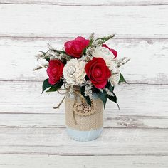 Choose your colors from the flowers to the mason jar and ribbon! Perfect as gifts or wedding centerpieces. Contact me for more info. Sola Wood Flowers, Wedding Centerpieces, Flower Arrangements, Mason Jars, Ribbon, Table Decorations, Colors, Gifts, Home Decor