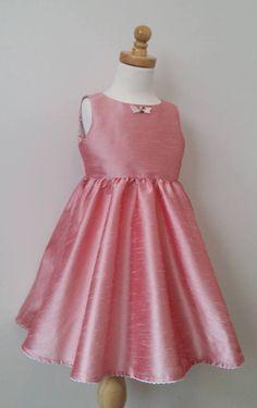 Pink party dress size 4 by KatyaStratfordStudio on Etsy