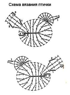 Resultado de imagen para crochet animals out of doilies Crochet Applique Patterns Free, Tatting Patterns Free, Easter Crochet Patterns, Crochet Birds, Crochet Bunny, Crochet Chart, Crochet Motif, Crochet Animals, Crochet Doilies