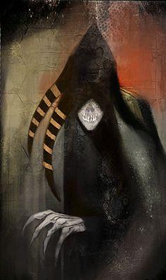 Fear demon tarot for Dragon Age: Inquisition Fantasy Rpg, Medieval Fantasy, Elves Fantasy, Dragon Age Tarot Cards, Maleficarum, Vampire Masquerade, Dragon Age Games, Dragon Age Inquisition, Cool Art
