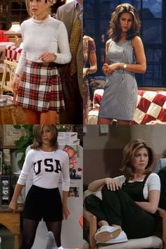 friends quotes scenes funny rachel ross monica chandler joey diversity problematic tv television feminist feminism style fashion outfits fashion outfits 'Friends': The Creators Have Regrets About the Show Rachel Green Outfits, Rachel Green Style, Rachel Green Costumes, Rachel From Friends Outfits, Rachel Friends, Rachel Green Fashion, Friends Tv, Green Skirt Outfits, Rachel Green Hair