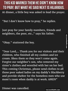This Kid Warned Them He Did Not Know How To Pray But What He Said Next Is Hilarious Pictures, Photos, and Images for Facebook, Tumblr, Pinterest, and Twitter