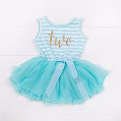 Second Birthday Sleeveless Tutu Dress