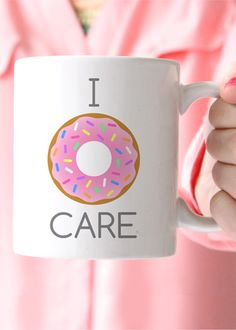 I Donut Care Coffee Mug $20 + free shipping from elleandk.com