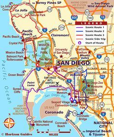 San Diego Map Hotels.San Diego Scenic Drives Vacation In 2019 Pinterest Travel San