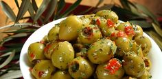 6 High-Fat Foods You Might Actually Want To Consider Eating Marinated Vegetables, Marinated Olives, Pickled Garlic, Tapas Recipes, Tapas Food, Portugal, High Fat Foods, Roasted Peppers, Dried Tomatoes