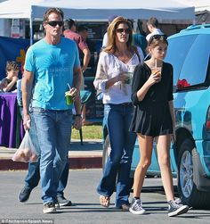 Family moments: Cindy Crawford, her lookalike daughter Kaia and husband Rande Gerber heade...