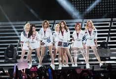 Susan Soonkyu Lee, Choi Soo-young, Im Yoona, Kim Hyo-yeon, Seo Ju-hyun, Stephanie Young Hwang, Kim Tae-yeon, and Kwon Yuri of Girls' Generation perform at the 2015 K-Pop Festival at Prudential Center on August 8, 2015 in Newark, New Jersey.