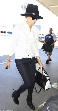 Travelling in style: Allison Williams was rocking a low-key look as she flew out of LAX airport on Wednesday