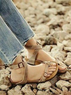 New Free People Birkenstock Yara Ankle Strap Sandal Tobacco Size 38 7 Sold Out | eBay