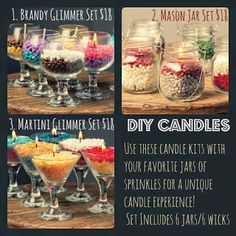 Sprinkle My Candles- Pink Zebra Independent Consultant: Pink Zebra Glimmer Candles DIY