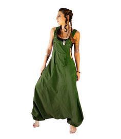Olive Aladdin Harem Jumpsuit Overalls Women by manaKAmana