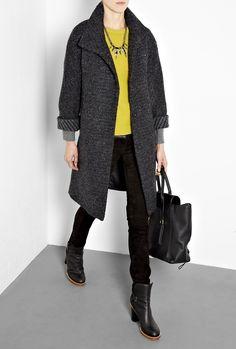 Striped Tweed Coat by Farhi By Nicole Farhi