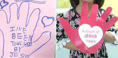 jairus daughter worksheet | Get kids to trace their palm on multi-coloured paper/card. Cut out the ...