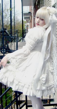 "Shiro Lolita. Shiro translates as ""white"". In order to be considered Shiro Lolita, the co-ord must include all white, or off-white pieces."