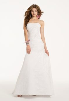Camille La Vie Lace Wedding Dress Bridal Gown Strapless     #weddingdresses #bridalgowns #weddings