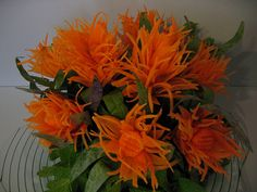 Fuzzy Carrot Bouquet | Carrot carving into fuzzy flowers and… | Flickr