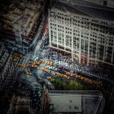 Creative Art, Vibrations, Urbaines, Laurent, and Dequick image ideas & inspiration on Designspiration New York Cityscape, Cityscape Art, Creative Photography, Amazing Photography, Street Photography, Multiple Exposure, Double Exposure, Long Exposure, Life Pictures