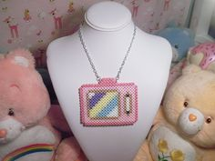 Kawaii Pastel Television Necklace by Weeabootique on Etsy, $5.00