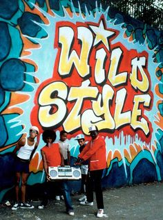 Wild Style 1983 hip hop film produced by Charlie Ahearn Wild Style, Hop Film, Look Hip Hop, Break Dance, Hiphop, Disco Funk, Hip Hop Party, Mandala, Graffiti Styles