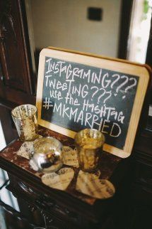 Get your guest to #hashtag your wedding! Style Me Pretty | GALLERY & INSPIRATION | GALLERY: 12134