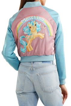Shop on-sale MOSCHINO + My Little Pony appliquéd Lurex bomber jacket. Browse other discount designer Casual Jackets & more on The Most Fashionable Fashion Outlet, THE OUTNET. Moschino, My Little Pony Clothes, Fashion Outlet, Feminine Style, Fitness Models, My Style, Casual, Outfits, Outerwear Jackets