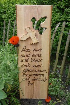 Hochzeit ♥♥Hochzeitsspruch♥♥ von Annegret Lindhorst auf DaWanda.com