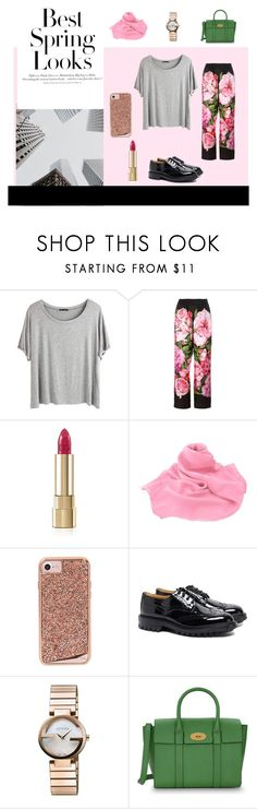 """""""Spring in the city"""" by coldasme ❤ liked on Polyvore featuring Chicnova Fashion, Dolce&Gabbana, H&M, Case-Mate, Tricker's, Gucci, Mulberry, Spring, floral and Pink"""