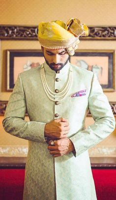 """Portfolio"" album of Sherwani Jatin Malik in Delhi NCR Sherwani For Men Wedding, Mens Sherwani, Wedding Dress Men, Kurta Men, Wedding Poses, Wedding Wear, Mens Indian Wear, Indian Men Fashion, Groom Wear"