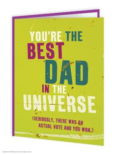 brainboxcandy.com - Best Day In Universe Father's Day Greetings Card, £2.50 (http://www.brainboxcandy.com/best-day-in-universe-fathers-day-greetings-card/)