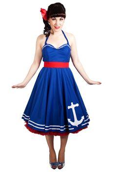 Nautical dress - louiseomahony.etsy.com