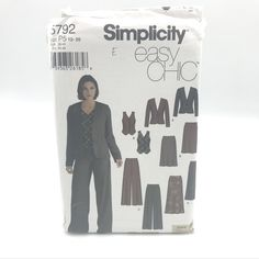 Sizes 16-22 Simplicity 1559 Easy to Sew Womens Pants and Skirt Sewing Patterns