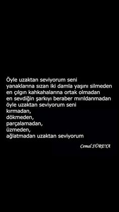 Öyle uzaktan seviyorum seni Cemal Süreya Poetry Books, Poetry Quotes, Words Quotes, Sayings, The Words, Cool Words, Free Mind, My Philosophy, New Beginnings