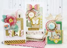 Adorable cards from crate papers new lines and using her new die cuts.