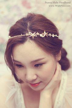Silver Star Headpiece, Bridal Halo, Bridal Headband, Wedding Hair Accessories, Hair Stars - SS102 Silver. $98.00, via Etsy.
