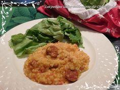 Risotto chorizo & poivron rouge - Les petites idées culinaires de Chris Andco