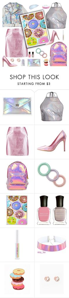 """""""Holographic Donut"""" by majezy ❤ liked on Polyvore featuring Boohoo, Charlotte Russe, Miss Selfridge, Forever 21, claire's, Deborah Lippmann and Sigma"""