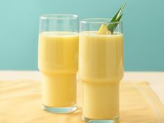 Tropical Smoothies - A delicious blend of yogurt, soymilk, mango and a touch of pineapple can take you to the tropics in minutes.