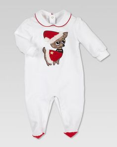 Chihuahua Santa Sleepsuit by Gucci at Neiman Marcus.