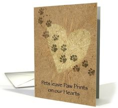 #Cards Paw Prints on our Hearts #Pets #Loss Sympathy Card Greeting Card Universe http://www.amazon.com/dp/B007CAN0GC/ref=cm_sw_r_pi_dp_ZS7fwb1AQTJ83