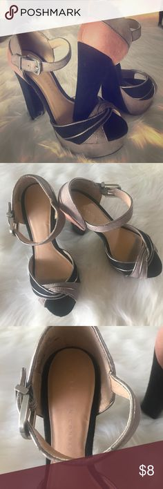 LC Conrad sz 8 Lauren Conrad sz 8 wedges. Almost new. Slight scratches on the left shoe, by the shoe belt but an easy fix. LC Lauren Conrad Shoes Heels