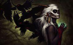 Find the best Demon Girl Wallpaper on GetWallpapers. Demon Art, Anime Demon, Artistic Wallpaper, Girl Wallpaper, Bustiers, Vampires, Dark Fantasy, Fantasy Art, Fantasy Story