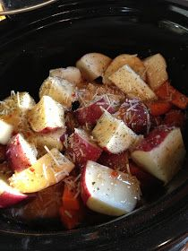 Crockpot Italian Chicken 'Stew' Recipe. This was insanely good, but I always add a can of chicken broth
