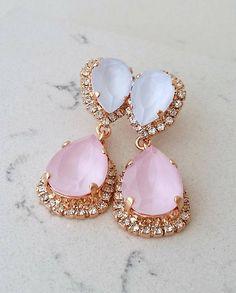 Blue pink earrings,Bridal earrings,Blue opal chandelier earrings,Wedding earrings,Bridal earrings,Vintage earrings,Swarovski ,Bridal jewelry | http://etsy.me/2ibNuQg